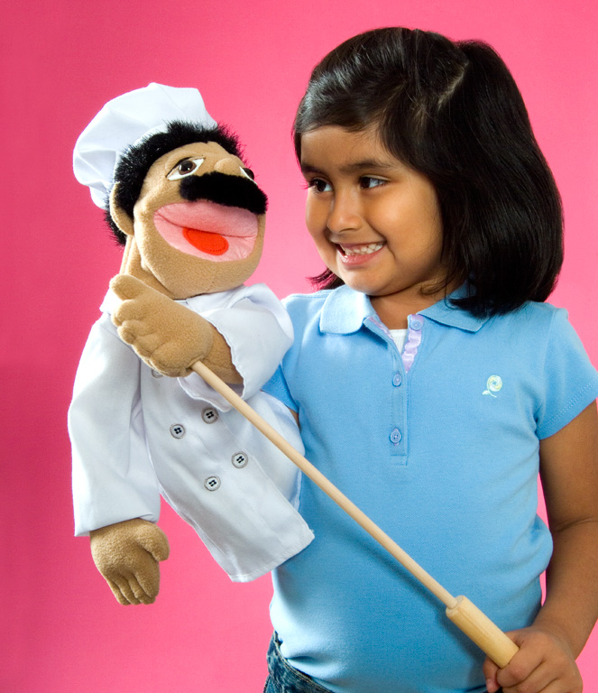 girl with toy for ad campaign